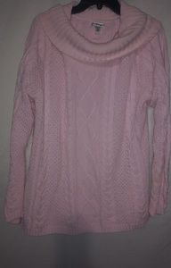 Croft & Barrow Pink Cable Knit Sweater 1X Plus